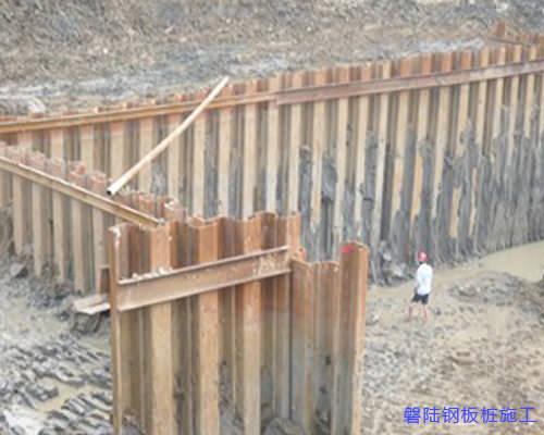 天门拉森钢板桩施工